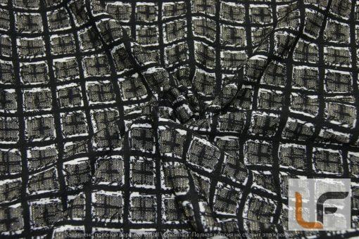 Трикотаж Клетка с люрекс 0798D
