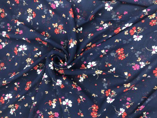 Шифон Принт Цветок 2174А3