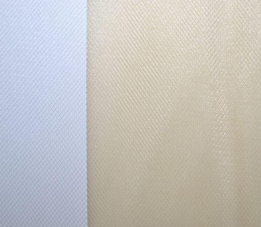 Фатин сетка металлик кремовый
