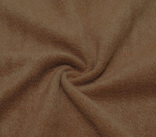 Флис однотонный коричневый песочно-коричневый